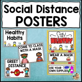 Image for social distance posters.