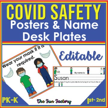 An image for posters and name desk plates for COVID19 safety
