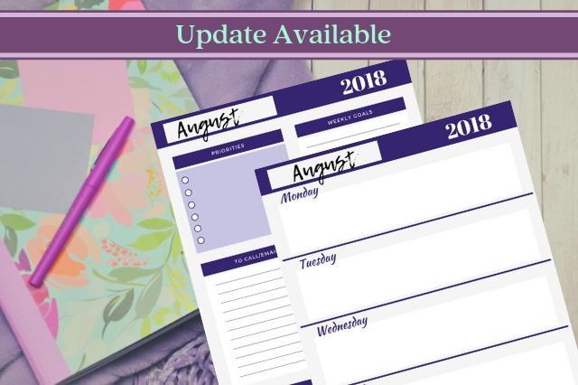 Minimalist Teacher Planner Pages
