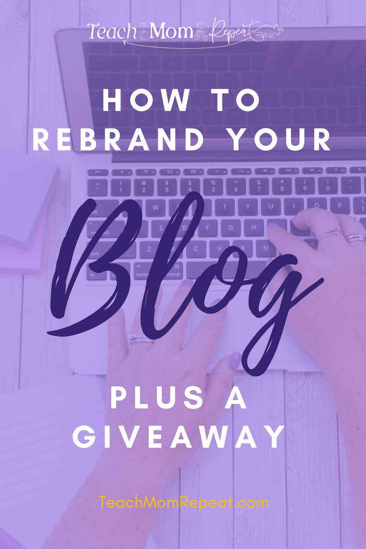 Learn how and why it might be in your best interest to rebrand your blog. Find out what I did so you won't make the same mistakes. Plus enter our giveaway.