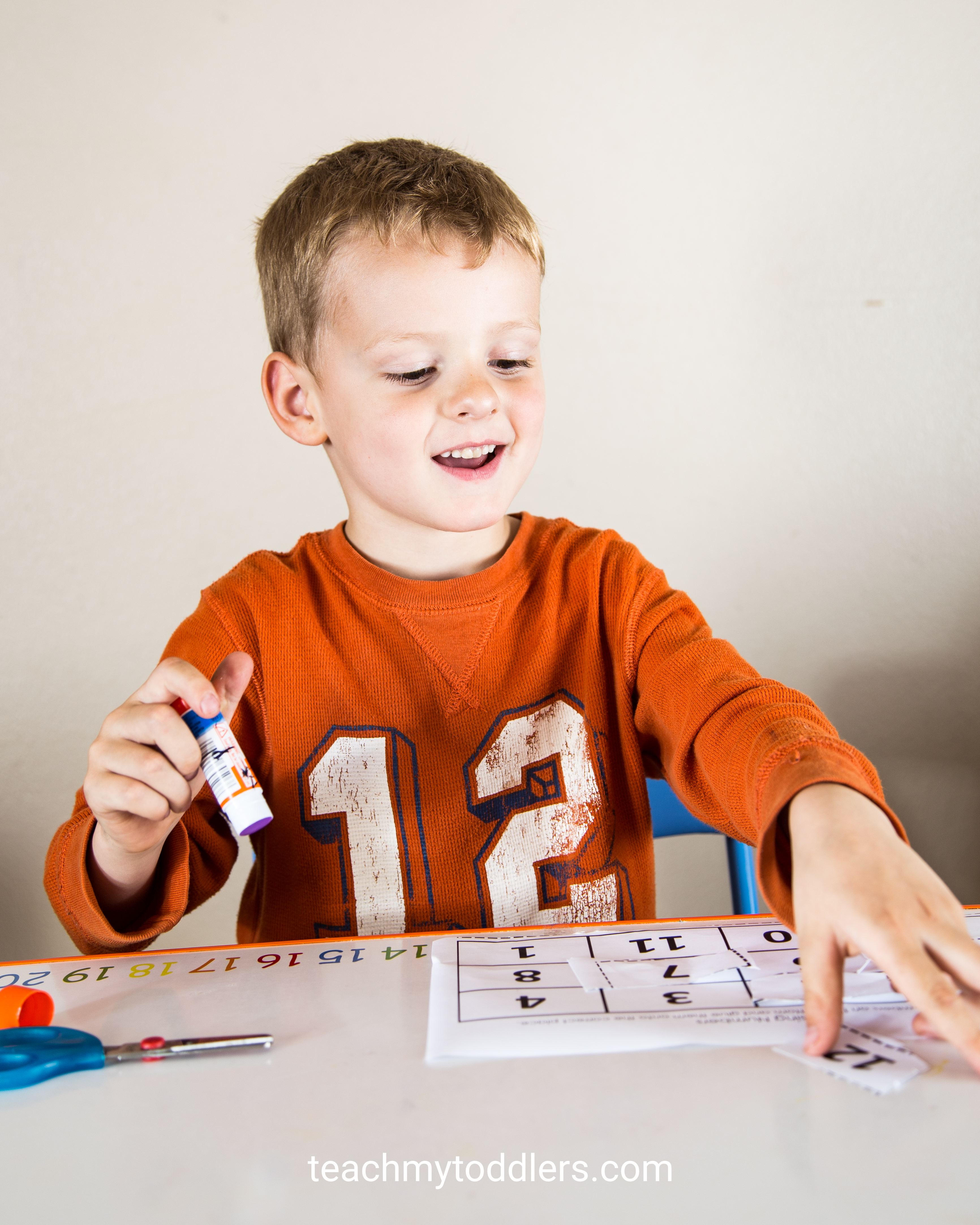 Missing Numbers Cut And Paste Worksheet Teach My Toddlers