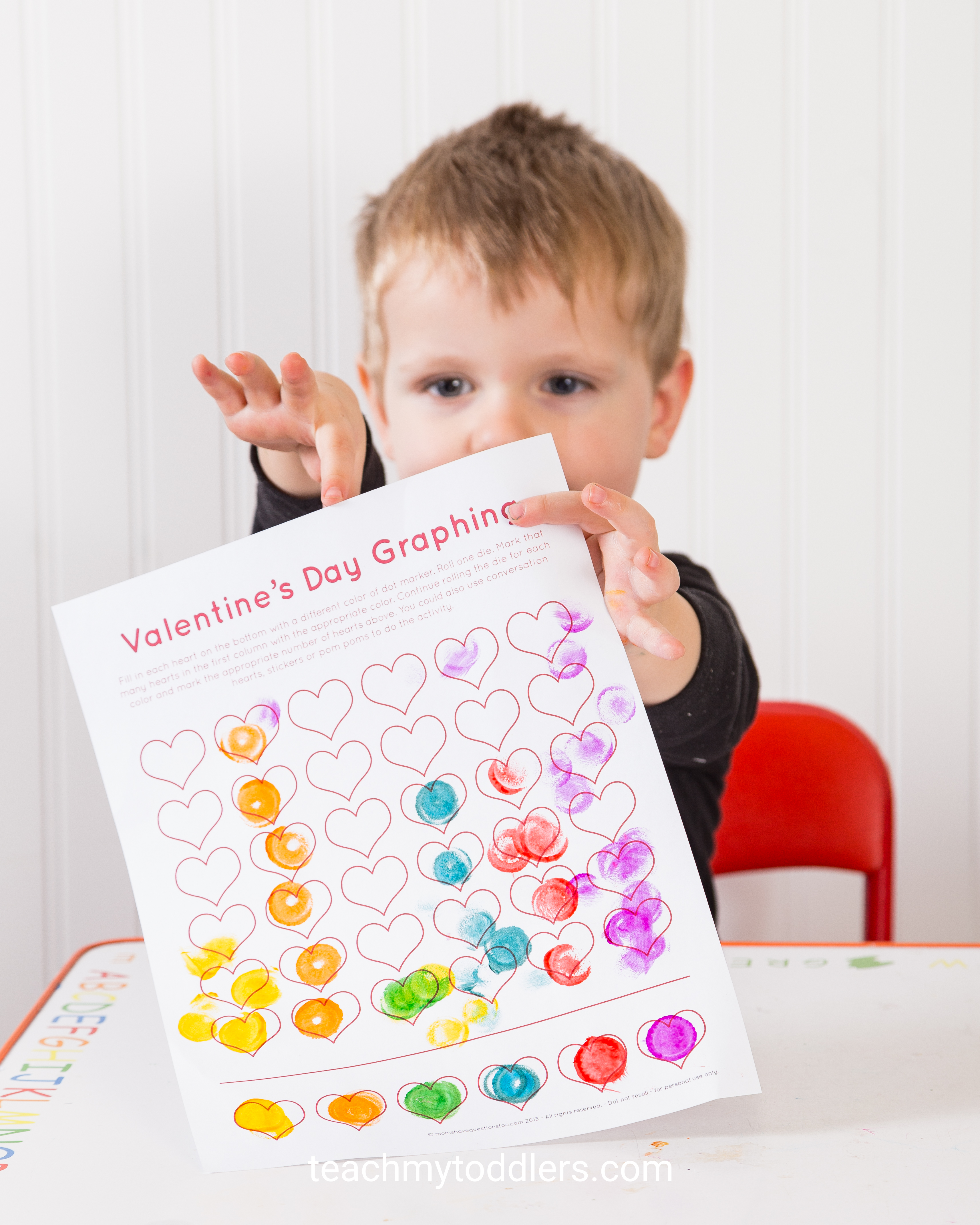 Valentine S Day Graphing Printable Teach My Toddlers