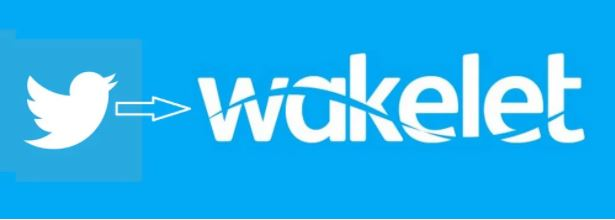 Twitter Wakelet logos