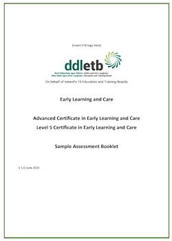 ELC Sample Assessment Booklet V 1.0 June 2021 ETBs screenshot