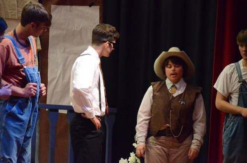 Students directing an adaptation of To Kill a mockingbird