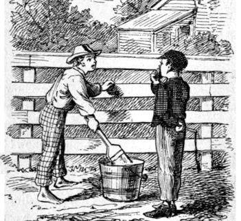 Tom Sawyer's role in Huckleberry Finn