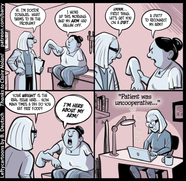 health care satire cartoon