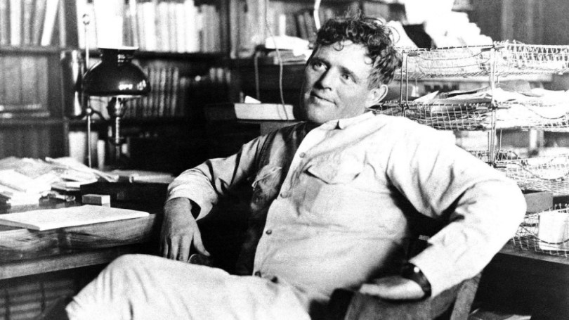 Jack London in his office