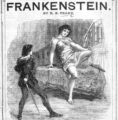 Playbill cover of Frankenstein