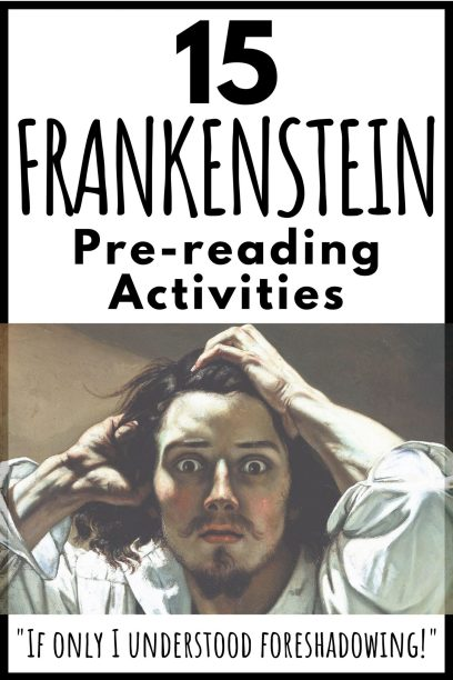 Frankenstein pre-reading lesson pin pic