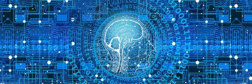 Digital brain graphic