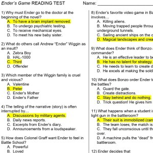 Ender's game reading check pdf page