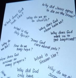 Kid Questions in Bible Classes- Teach One Reach One
