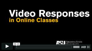 Video Responses in Online Classes