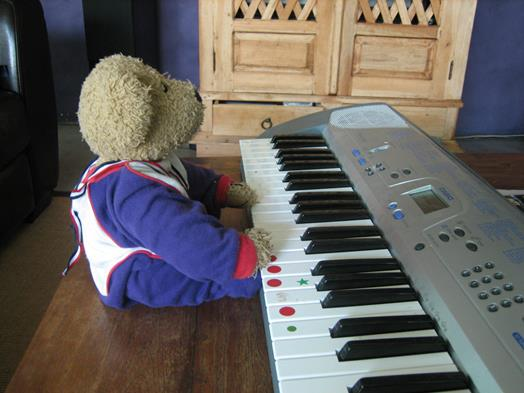 Ted at the keyboard