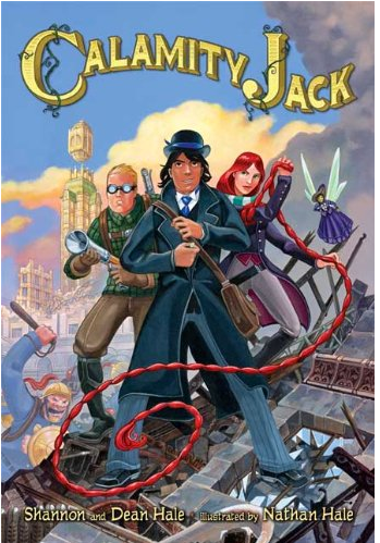 Kids in my studio are all excited to read  Calamity Jack , one of series of fabulous books by  Shannon and Dean Hale . Graphic novels are big with all ages.
