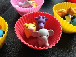I like to give the students the erasers in these  cute silicone cupcake holders . They're bright, lightweight and easy-to-store.