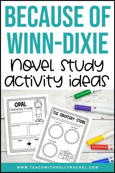 because-of-winn-dixie-novel-study-activities