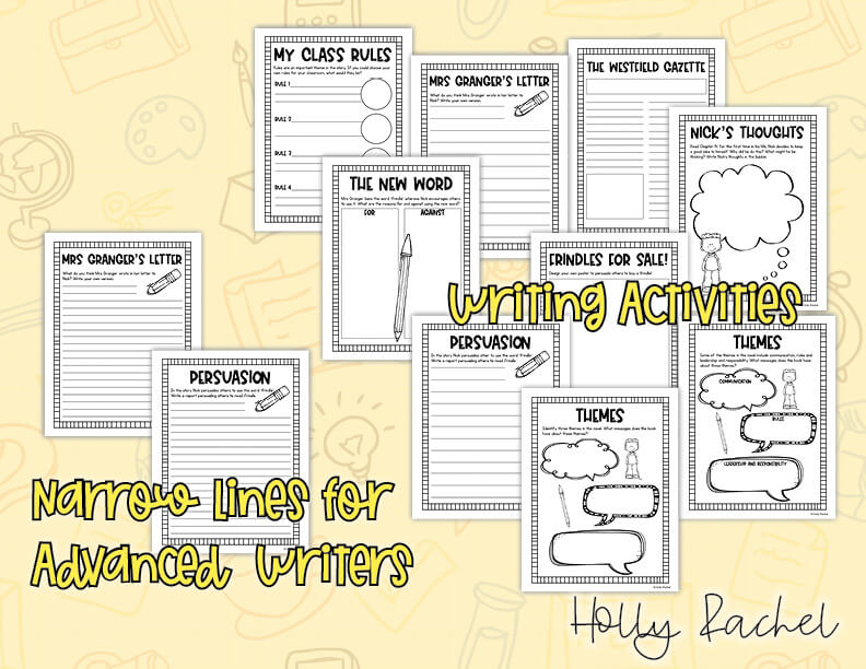 frindle writing activities