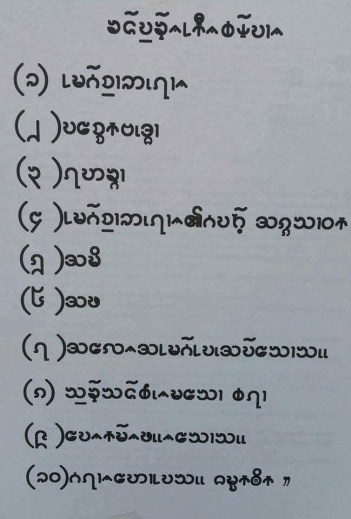 The Danu script created in 2013-2014 by the Taunggyi branch of the Danu LCC.