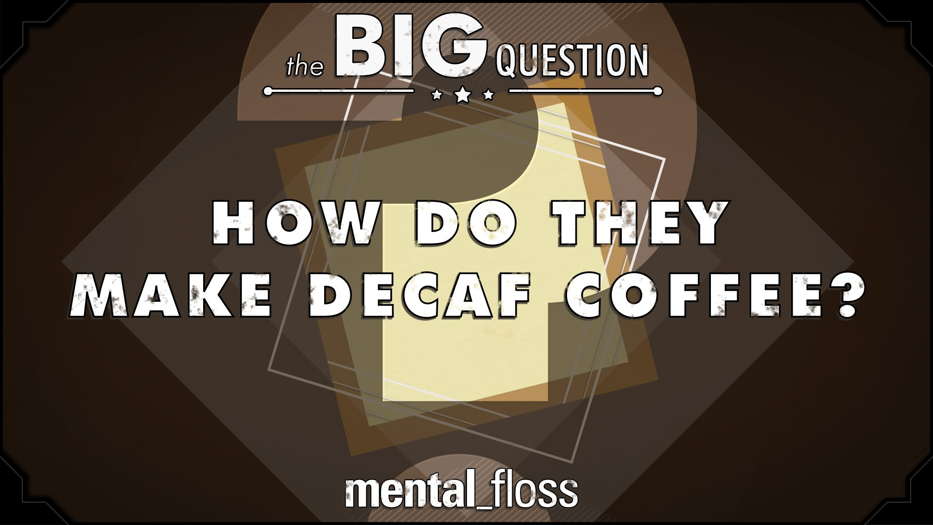 How Do They Make Decaf Coffee? – The Big Question – (Ep.1)