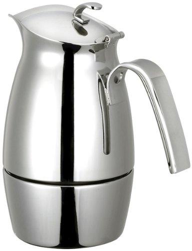 CUISINOX COF-B6 Bella 6-Cup Stainless Steel Stove Top Espresso Maker