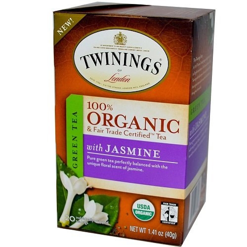 Twinings Green with Jasmine Organic, 20 Count Tea Bags, 1.41 Ounce