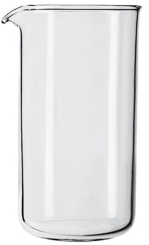 GROSCHE Universal 1000 ml 34 oz Replacement Glass Beaker for French PressesUniversal Fit 1000 ml, 8 cup, 34 oz Replacement Glass Beaker for French Presses like Bodum, Grosche, Kona, SterlingPro, LeCafetiere etc.