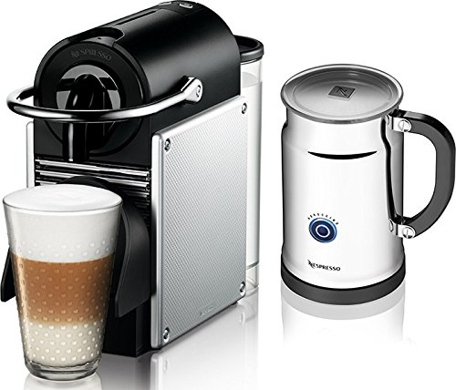 Nespresso Pixie Espresso Maker With Aeroccino Plus Milk Frother, Aluminum