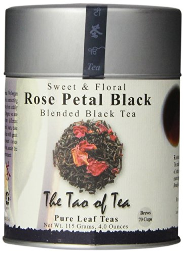 The Tao of Tea, Rose Petal Black Tea, Loose Leaf, 4-Ounce Tin