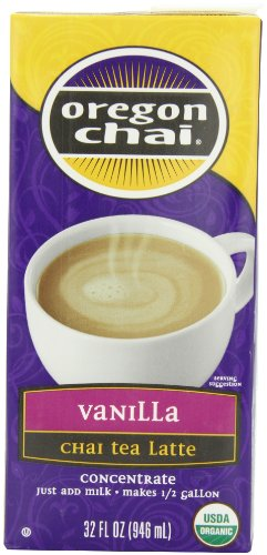 Oregon Chai Vanilla Chai Tea Latte Concentrate, 32-Ounce Boxes (Pack of 6)