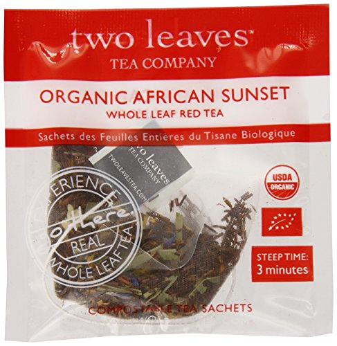 Two Leaves Tea CompanyOrganic African Sunset Red Tea, 100 Count