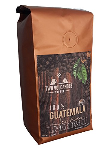 Two Volcanoes Whole Bean Coffee – Delicious Flavor From Organic Coffee Beans. Great for Espresso. Single-Origin, Exclusive Medium Roast From San Marcos, Guatemala. Cultivated, Processed & Packed in Origin to Guarantee Freshness & Best Possible Flavor. 16 Ounce Bag