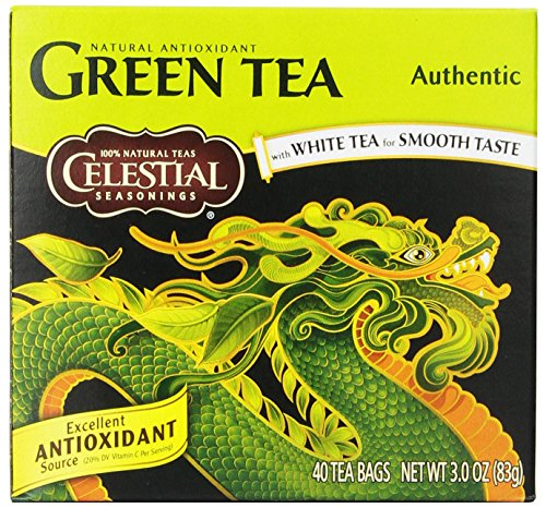 Celestial Seasonings Authentic Green Tea, 40 Count