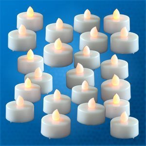 Lily's Home® 48 Flickering Candle Set Flickers Like a Real Candle, Tealight Candles Flameless Candle Wedding Tea Light