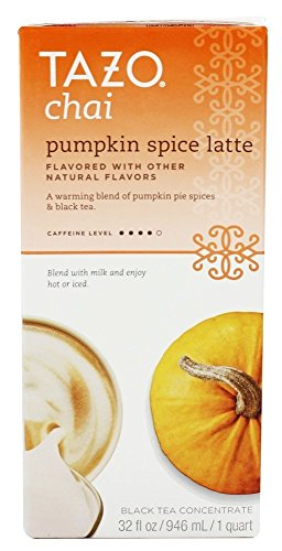 Tazo Pumpkin Spice Chai Tea Latte Concentrate (32 oz, 1 quart) – Pack of 3