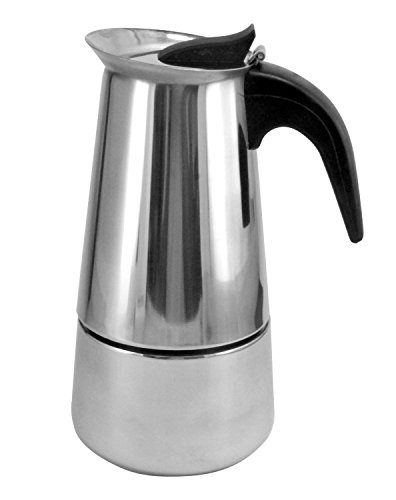 9 Cup Brew-fresh Stainless Steel Italian Style Expresso Coffee Maker for Use on Gas Electric and Ceramic Cooktops