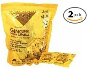Prince of Peace Instant Ginger Honey Crystals, 30 ct Bags – 18 g Sachets, (Pack of 2)