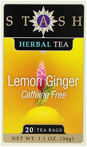 Stash Lemon Ginger Herbal Tea, 20 Tea Bags