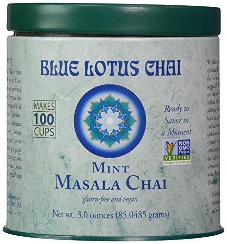 Blue Lotus Mint Masala Chai – 3oz Tin (100 cups)