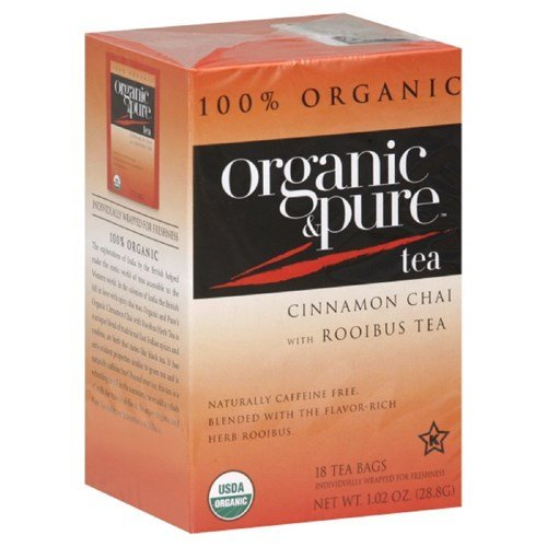Organic & Pure Cinnamon Chai Rooibos Herb, 18-count (Pack of6)