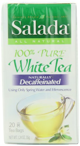 Salada White Tea, Decaf, 20-Count Boxes (Pack of 6)