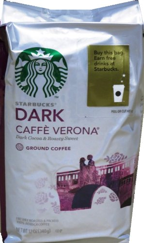 Starbucks Caffe Verona Ground Coffee Dark