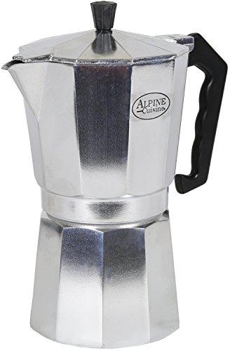 Espresso Maker-stovetop Espresso Maker-9 Cups Capacity, Heavy Gauge Aluminum