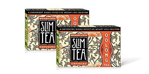 Okuma Nutritional's SlimTea CAPSULES-100% Pure and Natural, HIGH CONCENTRATION More Powerful Than Green Tea, Burns Up To 523% More Fat Than Green Tea! 2 Month Supply(120 capsules)