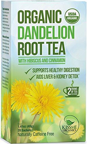 Raw Organic Dandelion Root Tea – 20 Bags x 2 grams