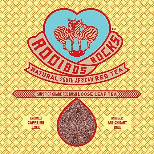 Rooibos Rocks South African Red Bush Loose Leaf Tea – 16oz of 100% Natural Organic, Caffeine Free, Sweet Tasting, Anti-Oxidant Rich, Mineral Dense, Gluten Free, Healthy Herbal Tea! Spoil Yourself!