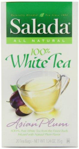 Salada Pure White Plum Tea, 20-Count (Pack of 6)