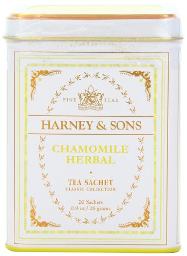 Harney & Sons Classic Chamomile Herbal Tea 0.9 oz/ 26 grams (20 Tea Sachets)