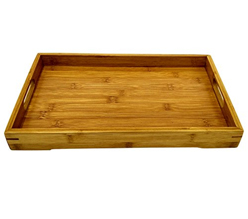 Artpot Bamboo Serving Tray with the Handle Tray Teatray 14*8.9*1.6 Inc